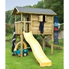 cabane enfant sur pilotis wistler park avec toboggan. Black Bedroom Furniture Sets. Home Design Ideas