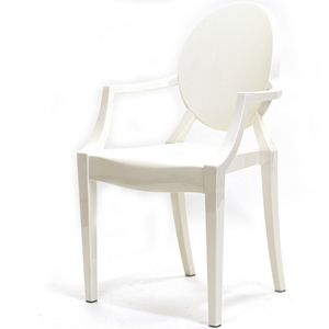 Philippe starck style louis ghost chair in white furniture