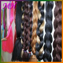 Wholesale Unprocessed Synthetic Braiding Hair Extension/Synthetic Hair Bulk