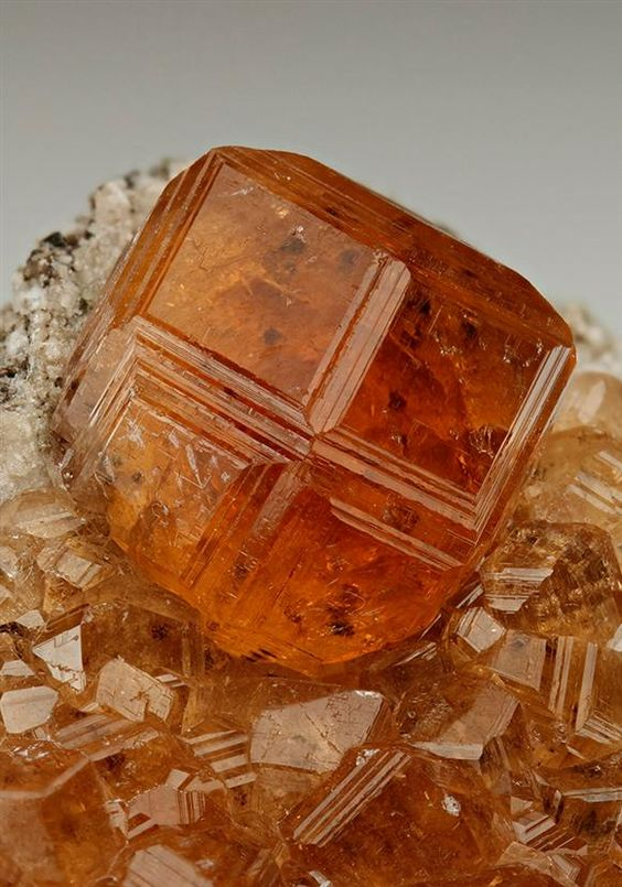Grossular from the Jeffrey Mine, Asbestos, Canada. Crystal Classics Minerals