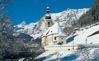 Ramsauer Kirche St. Sebastian im Winter