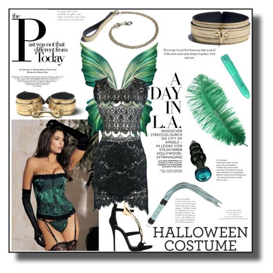"""Passion Halloween #14(18+)"" by julia-kesar ❤ liked on Polyvore featuring DIVA and Giuseppe Zanotti"