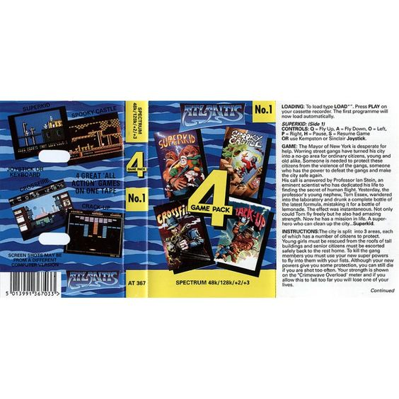 4 Game Pack No.1 for ZX Spectrum from Atlantis