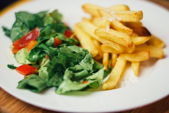 Food, Salad, French Fries, Vegetables, Lunch, Dinner: