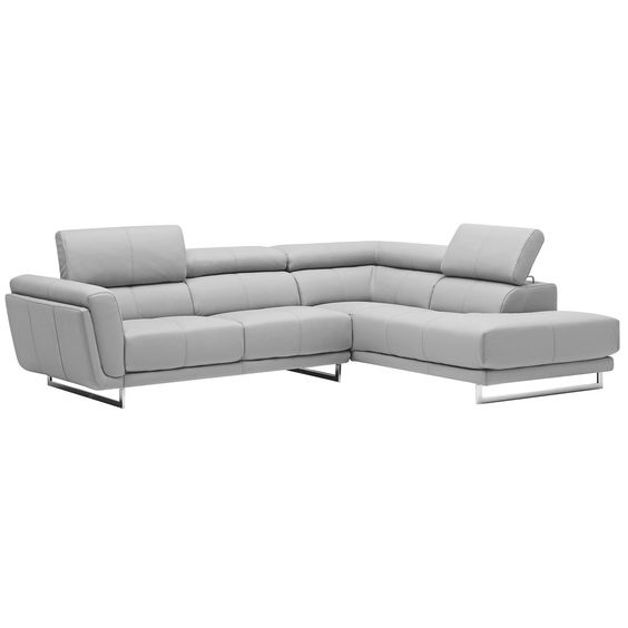 Moto 3-Seater Italian Leather Corner Chaise Lounge from Domayne  sc 1 st  Pinterest : leather corner chaise lounge - Sectionals, Sofas & Couches