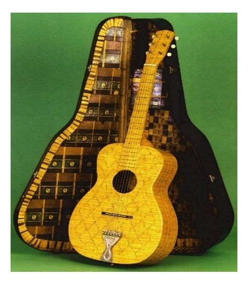 Guitar made entirely out of match sticks