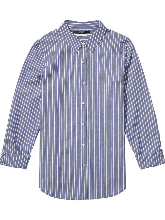 Gestreept katoenen shirt