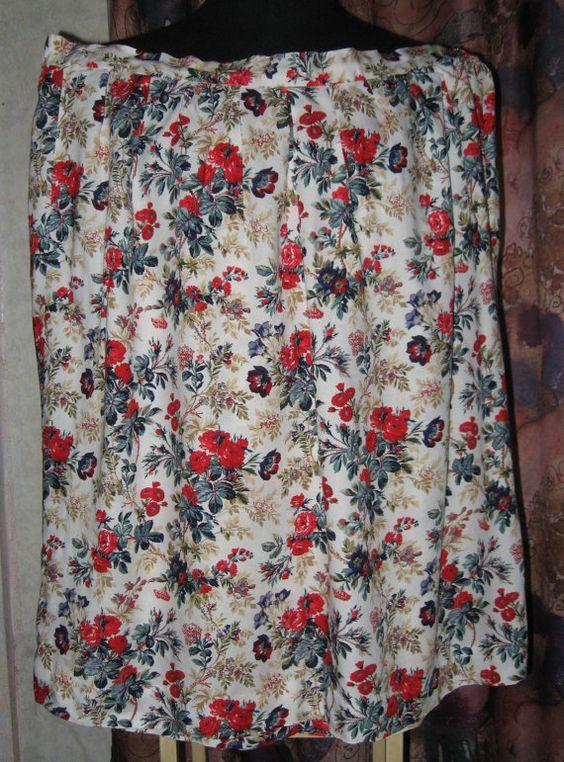 Винтажная женская юбка. Размер 24 U.K. от VIRTTARHAR на Etsy