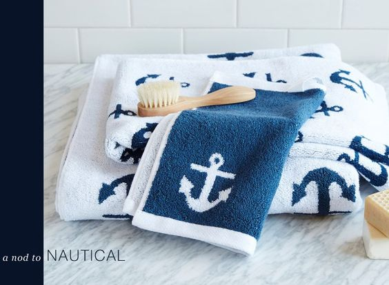 Nautical Bath, Bath Towels And Nautical On Pinterest
