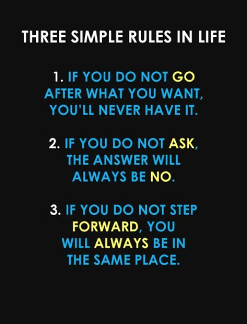 three simple rules - apply daily!