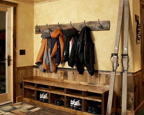 Furniture exciting rustic coat hooks wall mounted with for Entry coat hook ideas