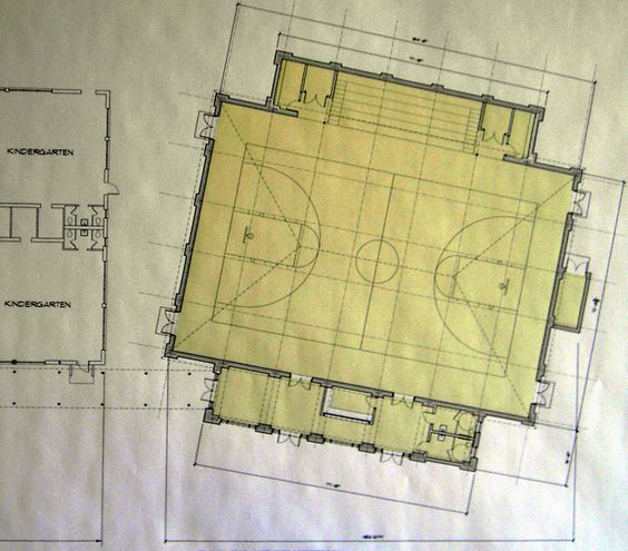 Indoor basketball gym free basketball gym floor plan for Basketball court plan