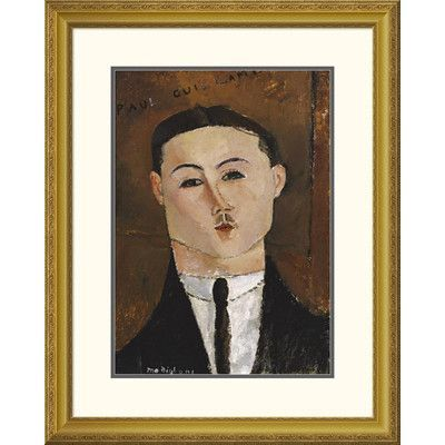 Global Gallery 'Portrait De Paul Guillaume' by Amedeo Modigliani Framed Painting Print Size: