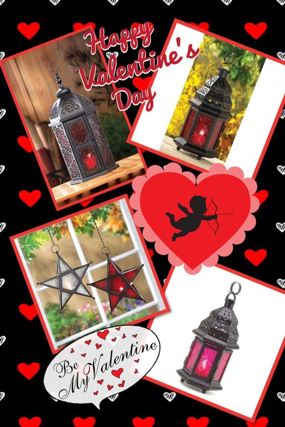 Beautiful lanterns await your decorating needs for your special Valentine's night...