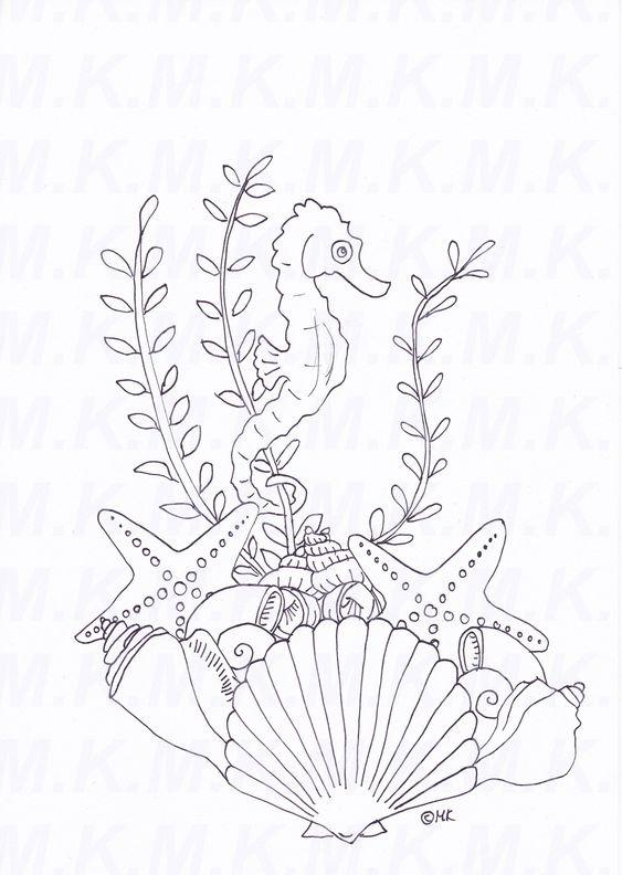ausmalbilder muscheln ausdrucken  tiffanylovesbooks