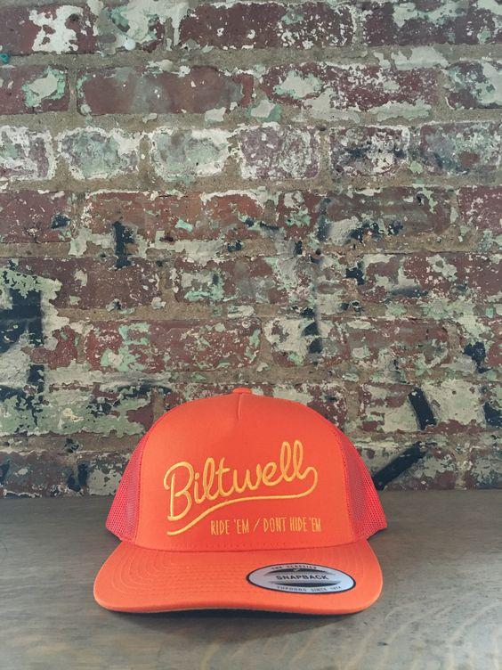 Biltwell Ride 'em Trucker Hat,Orange