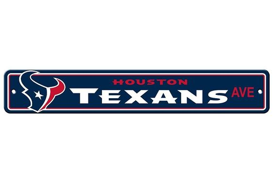 """New NFL Football Team Official Logo Street Sign 4"""" X 24"""", Price: $7.99"""