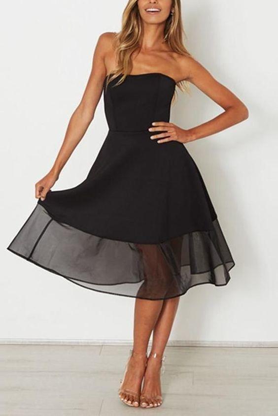 Black Sleeveless Party Mini Dress Mini Dress Party Ladies Mini Dresses Mini Black Dress