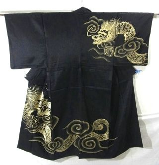 Splendid Dragon Pattern Men's Hitoe Kimono - I wonder if Katsunari would dare to wear the symbol of the Dragon... He'd be openly showing his support for Ming, and Yae-hime wouldn't be a bit happy about that.