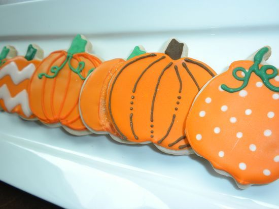 fall decorated cookies - halloween Pinterest Fall decorated - halloween pumpkin cookies decorating