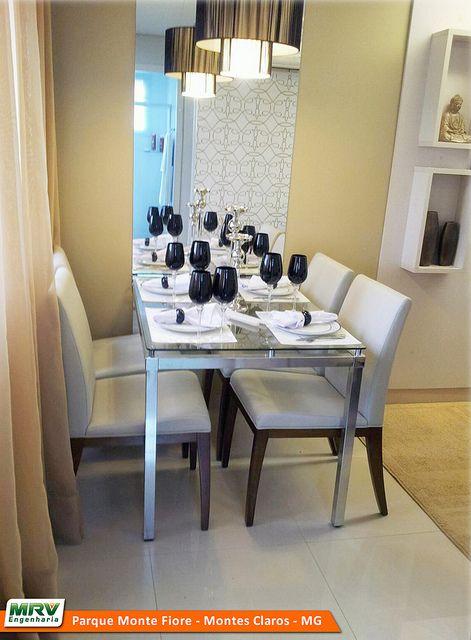 Sala Pequena Decorada Mrv ~ MRV Apartamento Decorado em Montes Claros  MG  Sala de Jantar by mrv