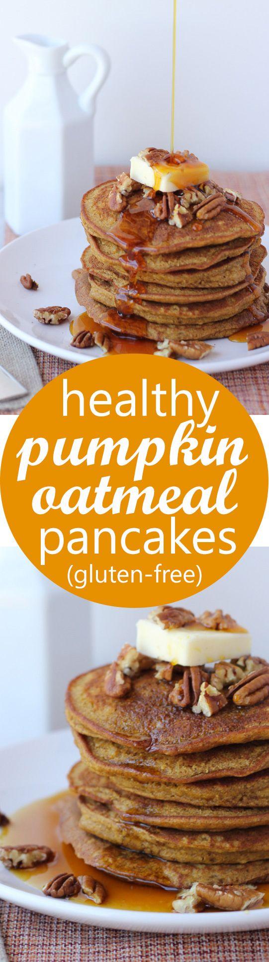 Oatmeal Pancakes (Gluten-Free, Dairy-Free) | Recipe | Oatmeal Pancakes ...