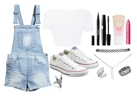 """""""Aussie Summer"""" by jemistaf ❤ liked on Polyvore featuring H&M, Stila, Maybelline, tarte, House of Harlow 1960, Wet Seal, Converse, Ariella Collection, Blue Nile and women's clothing"""