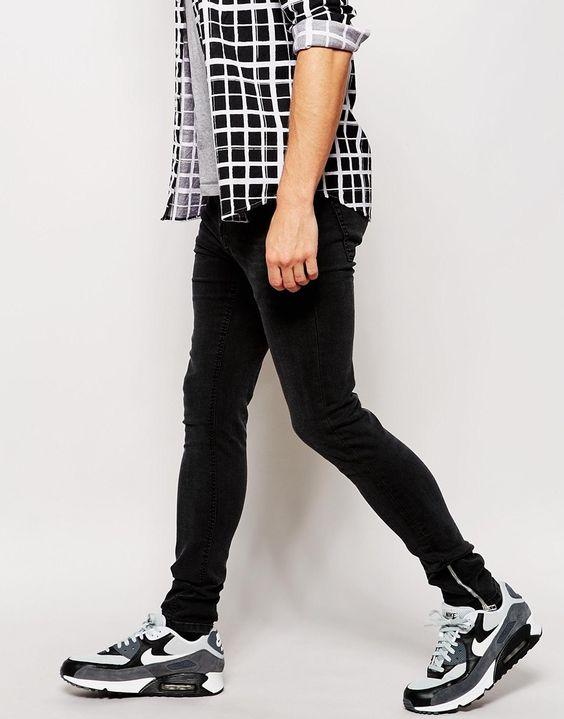 Bild 1 von ASOS – Superenge Jeans mit Reißverschlüssen an den Knöcheln