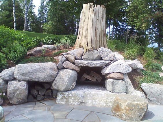 Boulder Fire Pit Ideas Fire Pinterest Traditional Interiors Inside Ideas Interiors design about Everything [magnanprojects.com]