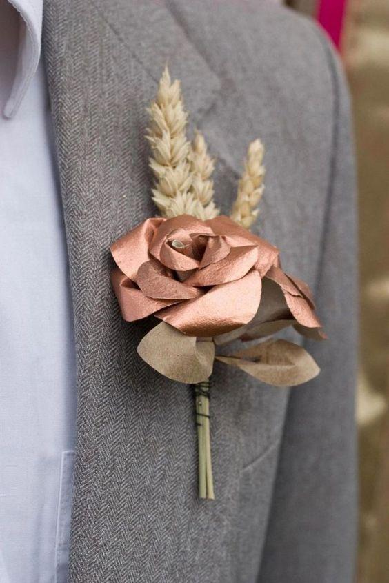 Detalhe da lapela em Rose Gold. #groom #noivo