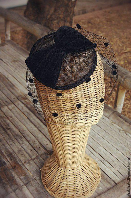"""Купить Шляпка с вуалью """"Daisy"""" - черный, шляпка с вуалью, купить шляпку с вуалью, шляпки с вуалью"""