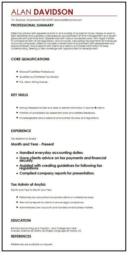 Cv Sample For Graduate Students Myperfectcv