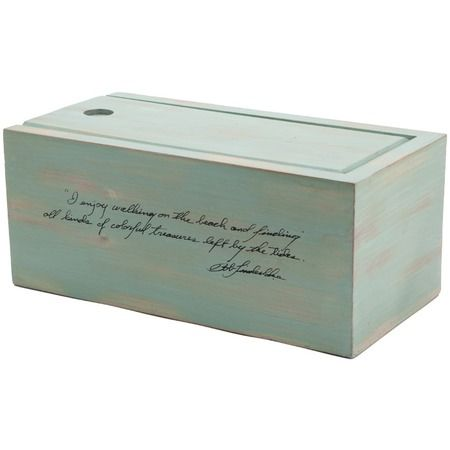 """Treasure Island Box in Seafoam // Description says, """"I enjoy walking on the beach and finding all kinds of colorful treasures left by the tides."""""""