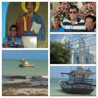 Fé é tudo fotos na igrejinha de Nossa Senhora do Pilar na Praia do Pilar