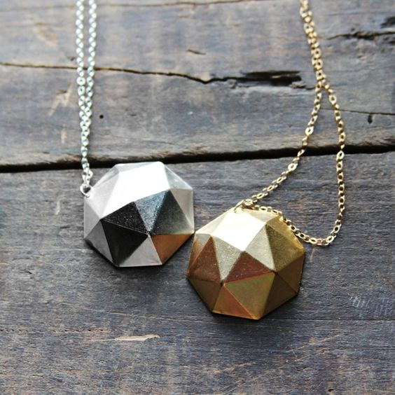 faceted dome necklace