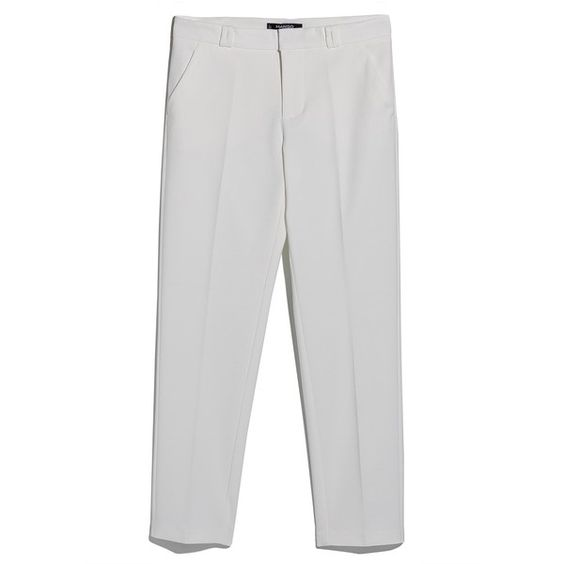 Stretch Cotton Trousers (31 CAD) ❤ liked on Polyvore