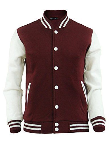 Maroon Baseball Jacket - JacketIn