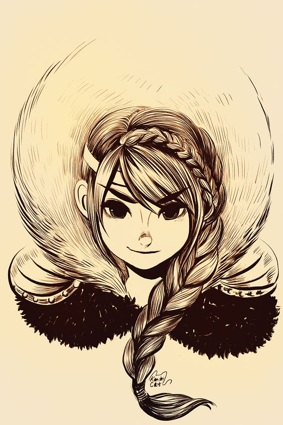 Astrid by on deviantart geeky for Cool sketches of girls