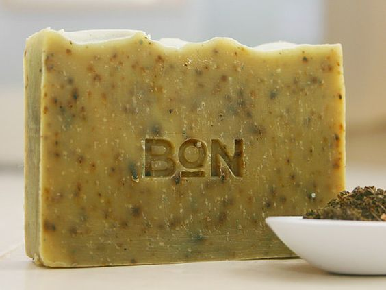Green Tea & Chamomile natural soap bar by bonsoaps on Etsy