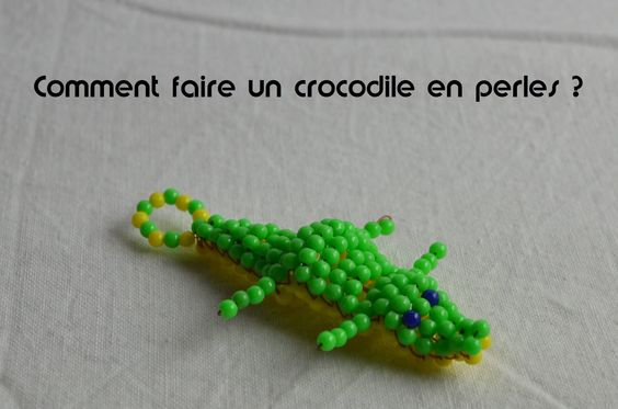 Comment faire un crocodile en perles