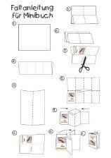 Mini Papierflieger Buch selber machen