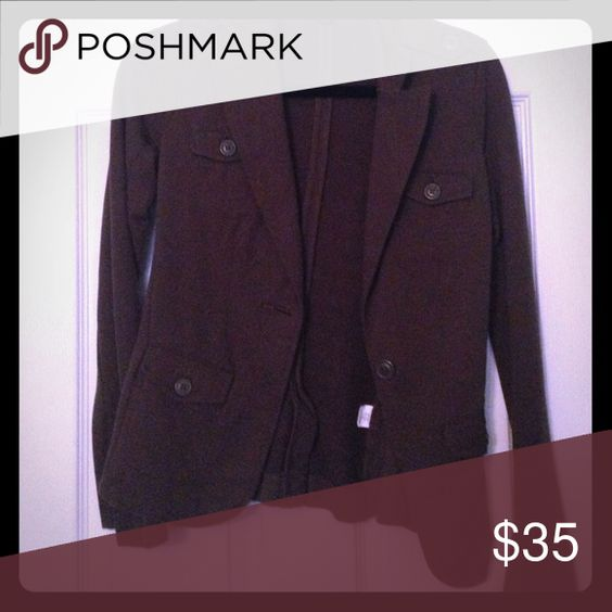 Olive Blazer Olive green Lucky Brand blazer. 1 button to close and all cotton Lucky Brand Jackets & Coats Blazers