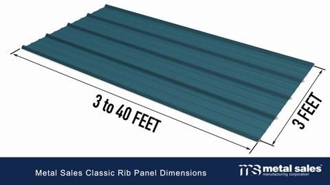 Metal Sales 10 Ft Classic Rib Steel Roof Panel In Charcoal 2313317 The Home Depot Steel Roof Panels Roof Panels Barn Storage