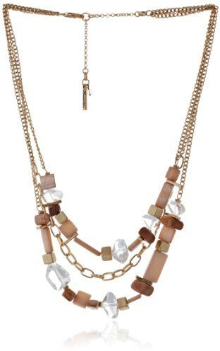 "Kenneth Cole New York ""Sandstone"" Mixed Bead Multi-Row Necklace, 21"""