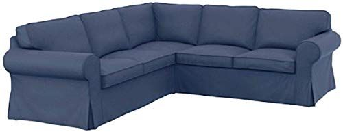 New The Thick Cotton Ikea Ektorp 2 2 Sofa Cover Replacement Custom Made Ikea Ektorp Corner Or Sectional Sofa Slipcover Dark Blue Online In 2020 With Images Sectional Sofa Slipcovers Sofa Covers Ikea Ektorp