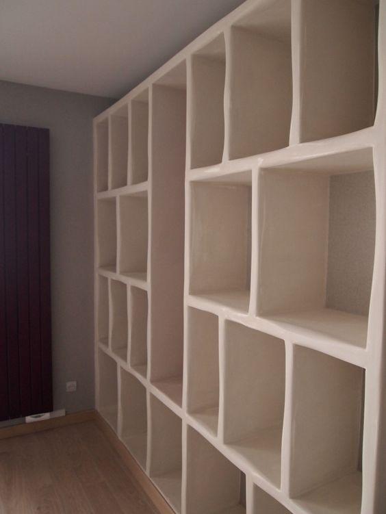 bibliothèque en carreaux de béton cellulaire siporex revêtus d'un enduit à la -> Bibliotheque En Siporex