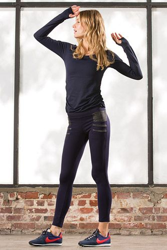 Leather Workout Leggings