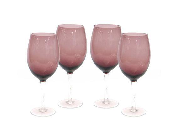 White Wine Glasses, Amethyst