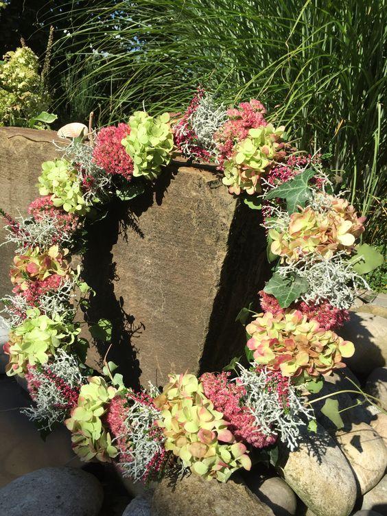 Blütenkranz aus Hortensien