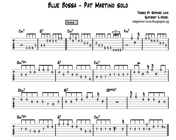 Guitar bossa nova guitar tabs : Pinterest • The world's catalog of ideas